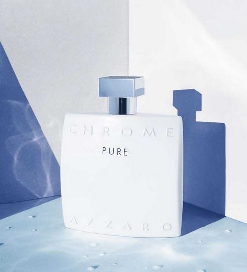 Chrome Pure d'Azzaro, un flacon au design épuré