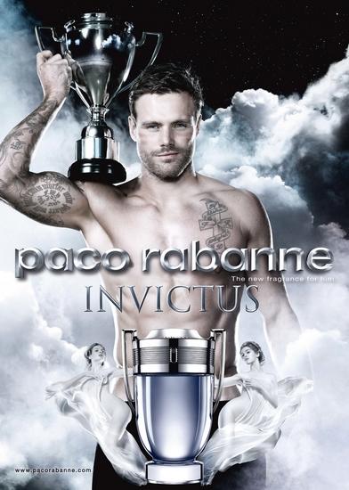 La puissance sportive au cœur de la campagne publicitaire d'Invictus de Paco Rabanne