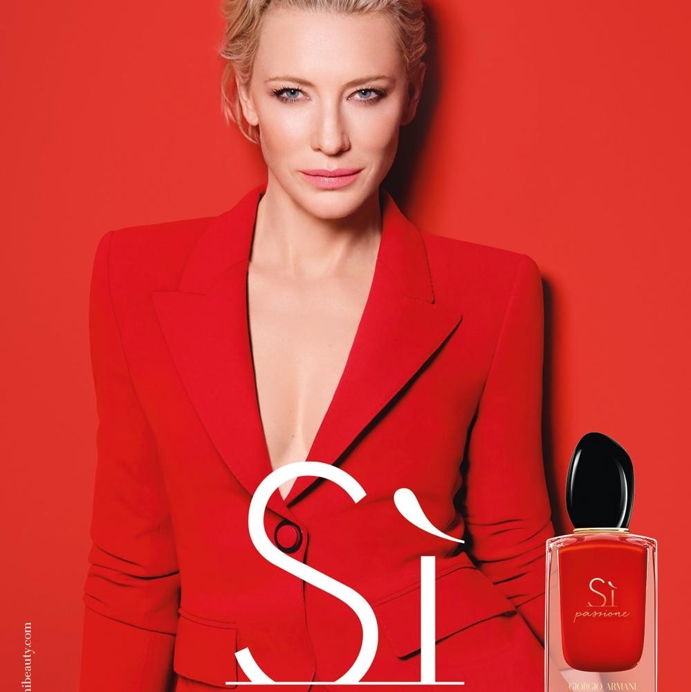 Cate Blanchett pour Armani Si