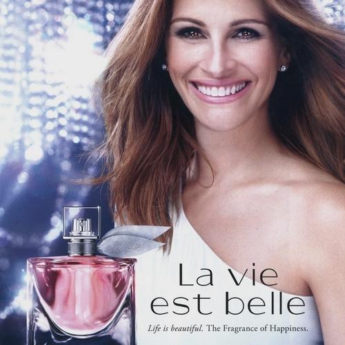 Julia Roberts icône du parfum La Vie est Belle